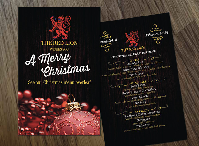 red-lion-xmas-menu