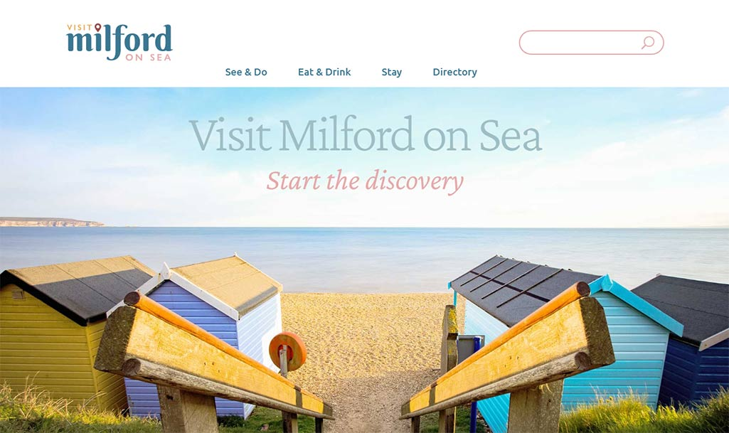 Brand Bamboo designed Visit Milford on Sea